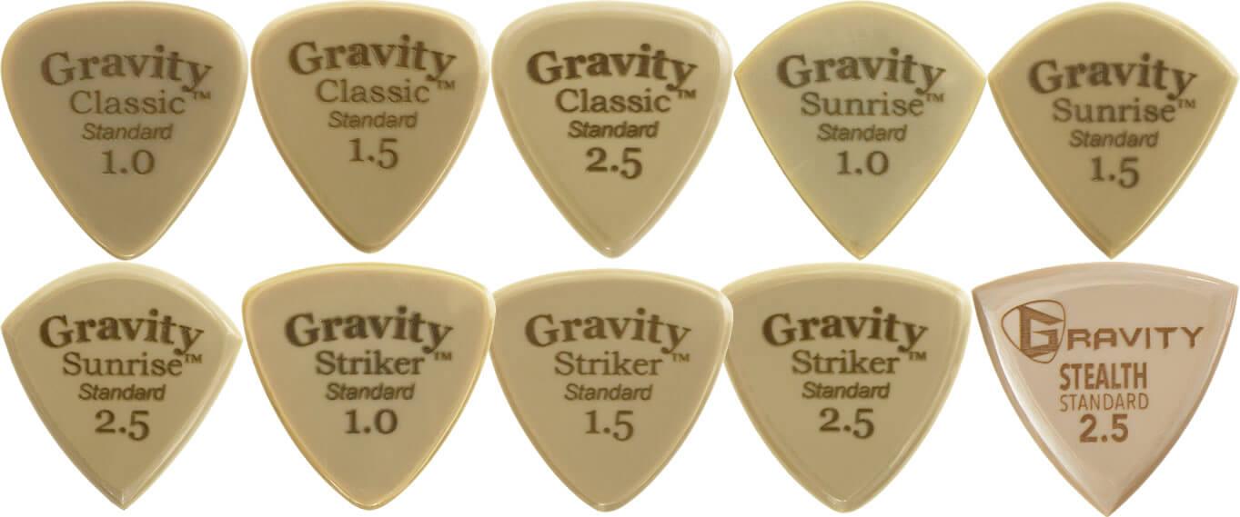 Gravity Guitar Pick:Goldシリーズ