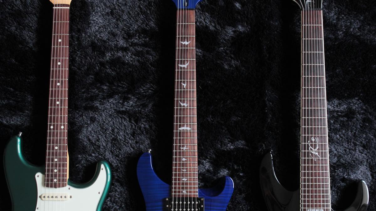 6弦/7弦/8弦ギター比較