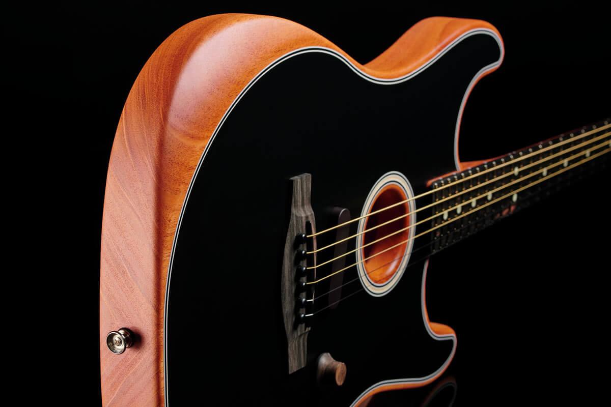 Acoustasonic Stratocaster:ボディコンター