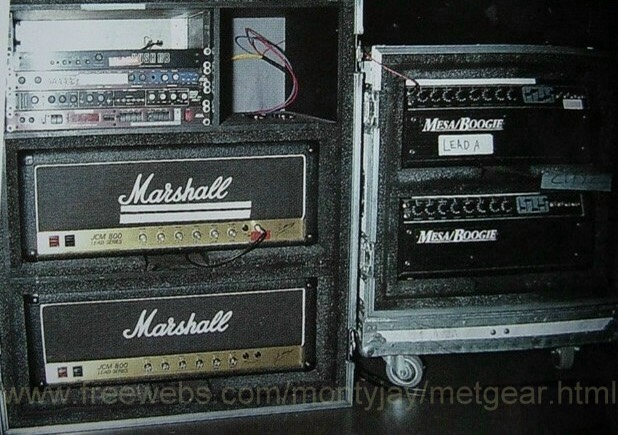 Kirk Hammett Guitar rig early years
