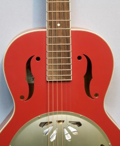 Gretsch G9241 Alligator Biscuit Round Neck Chieftain Red