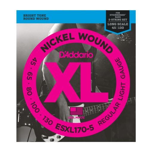 D'Addario ESXL170-5 Bass Nickel Wound