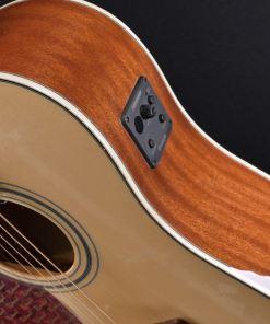 Richwood RD17LCE Western-Gitarre für Linkshänder mit Tonabnehmer und Cut