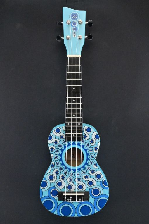 VGS Manoa Sopran Ukulele Mandala Blau
