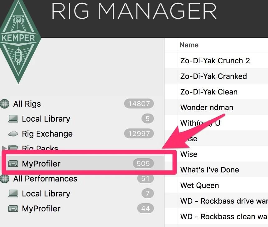 Rigs MyProfiler Rig Manager1