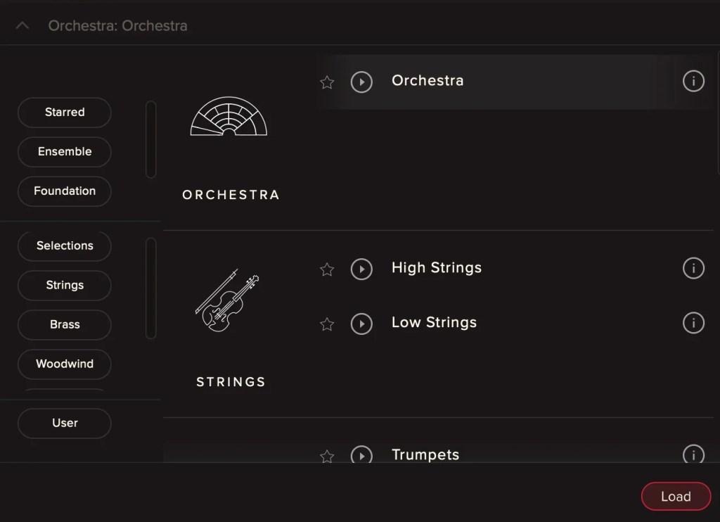 High Stringsの場合,HighとLowの2つに分けられている