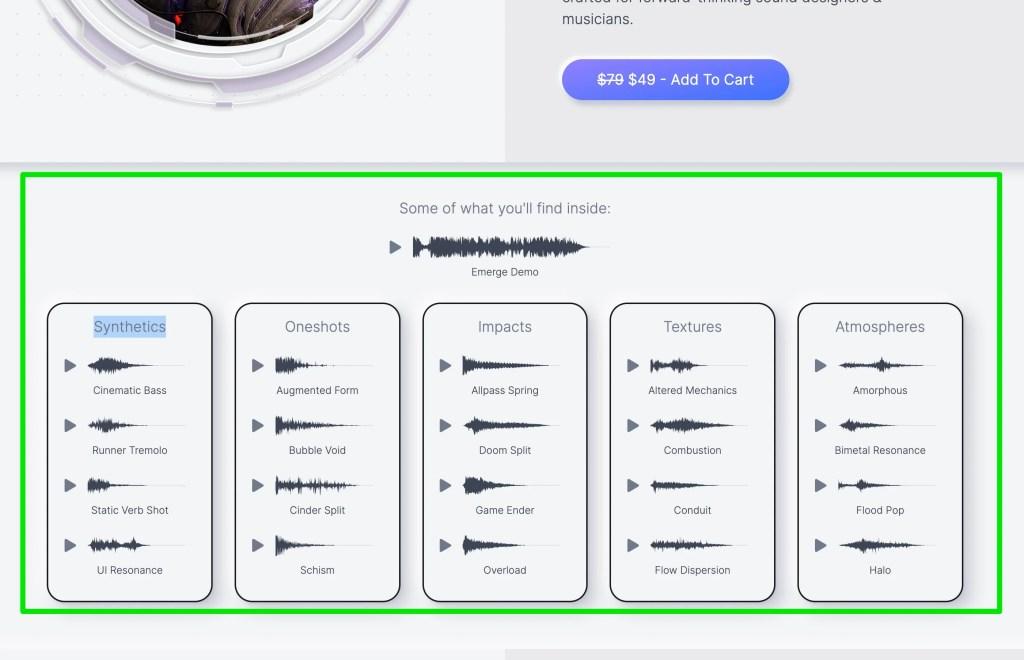 Minimal Audio Emerge