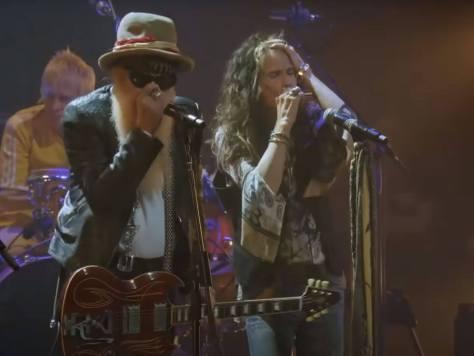 Billy Gibbons and Steven Tyler