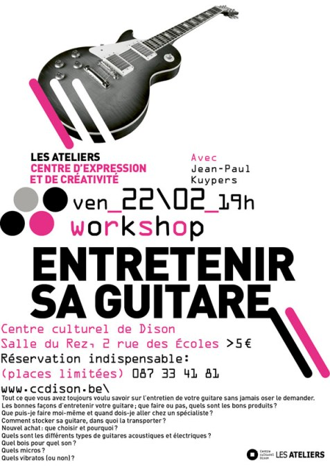 Un workshop du CC Dison