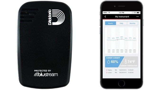 D'Addario Humiditrak, le mouchard Bluetooth