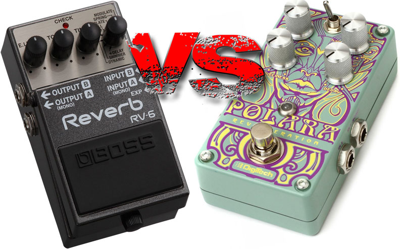 Pédale de réverbération : Boss RV-6 vs Digitech Polara