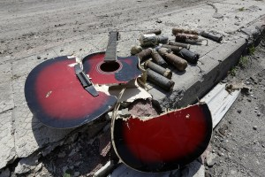 guitare cassée