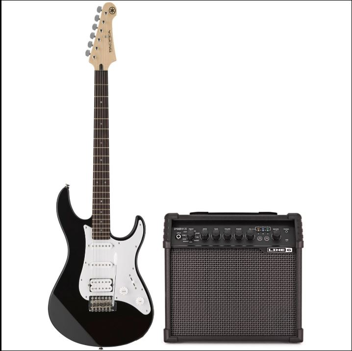 Guitar with Amp set by yamaha for guitar Bro