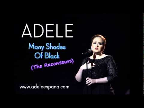 Adele Many Shades Of Black Chords Guitar Piano and Lyrics