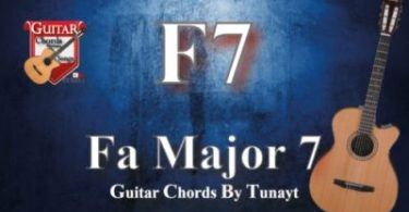 Fa major 7 | How to play F7 chords on guitar