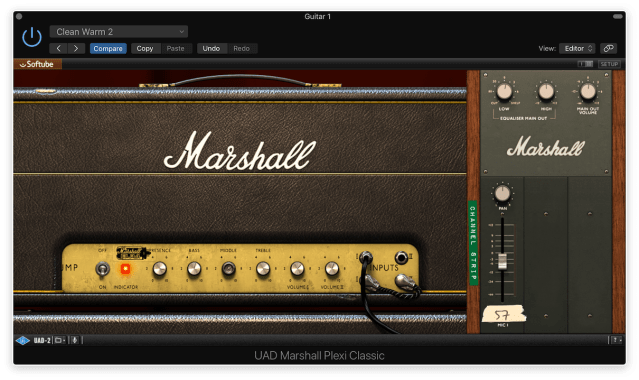 UAD Marshall Plexi Classic with Jumpered Two Channels