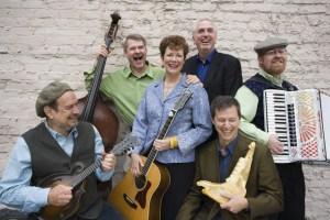 Euphonia - Old Jawbone Ensemble - L to R: Paul Kotapish, Chuck Ervin, Sylvia Herold, Ed Johnson, Brian Rice, Charlie Hancock