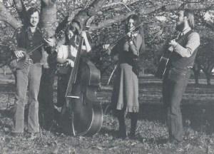 Bum's Rush String Band - L to R: Ted Tom, DeLynn Anderson, Paula Walters, Paul Kotapish