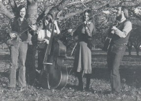 Bum's Rush String Band - L to R: Ted Tom, DeLynn Anderson, Paula Walters, Paul Kotapish