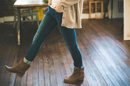 woman wearing boots