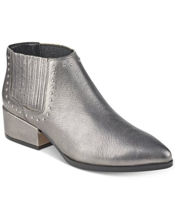 silver bootie