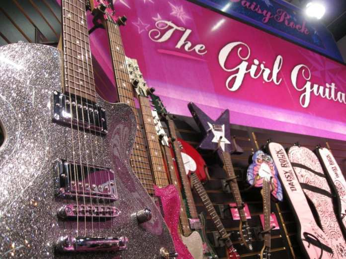 Daisy Rock Guitars Booth NAMM show