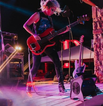 bassist ashley reeve performing onstage photo taken by tara arseven