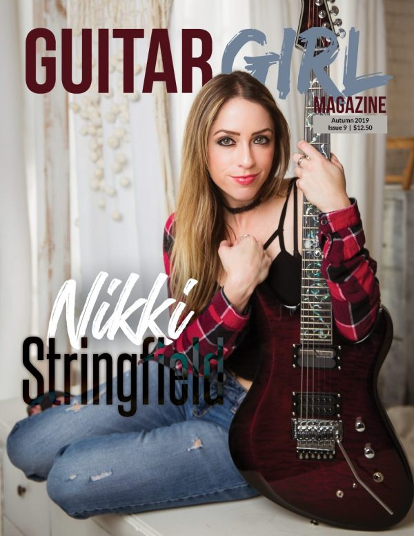 guitar magazine cover with nikki stringfield
