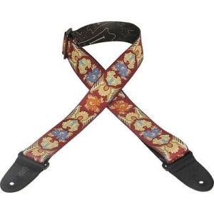 Levy's print polyester guitar strap