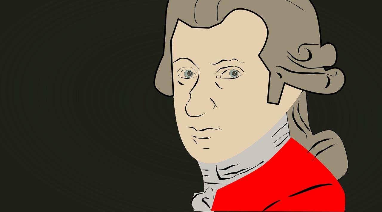 モーツァルト似顔絵