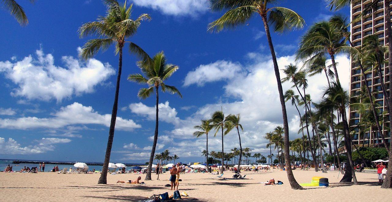 ハワイの海辺