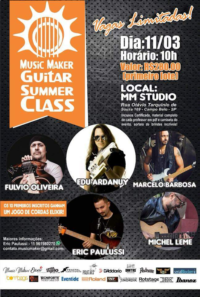 Flyer do evento Music Maker Guitar Summer Class