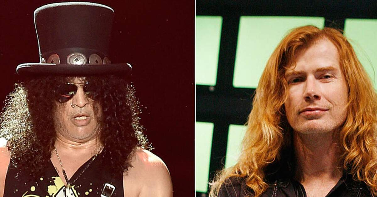 Slash e Dave Mustaine