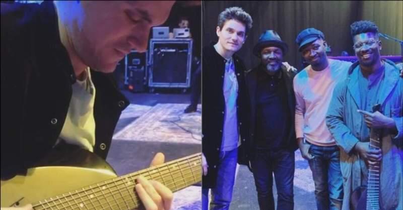 John Mayer tocando a guitarra de 8 cordas de Tosin Abasi