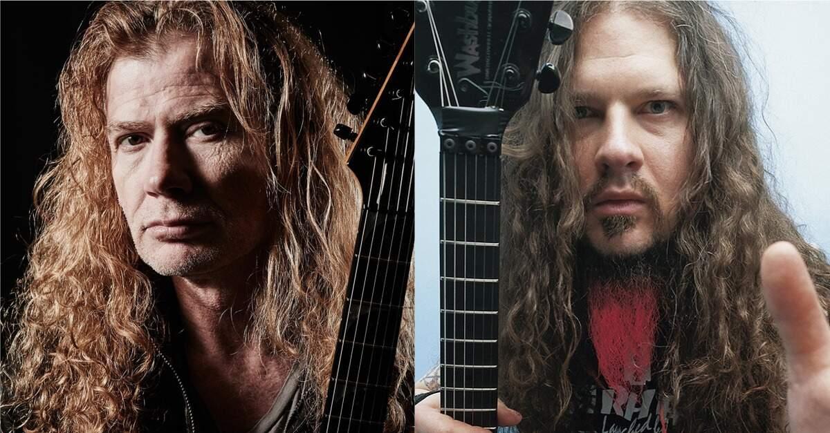 Dave Mustaine ao lado de Dimebag Darrell