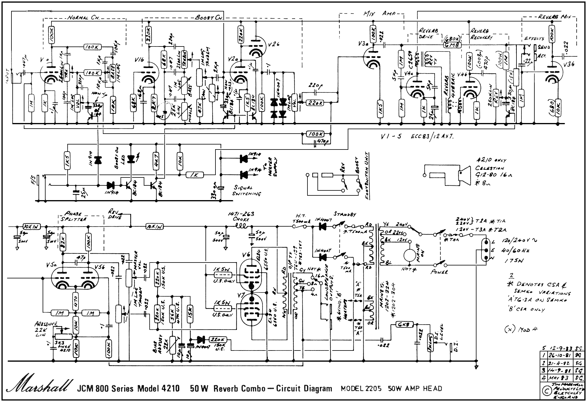 Ibanez Bass Schematic