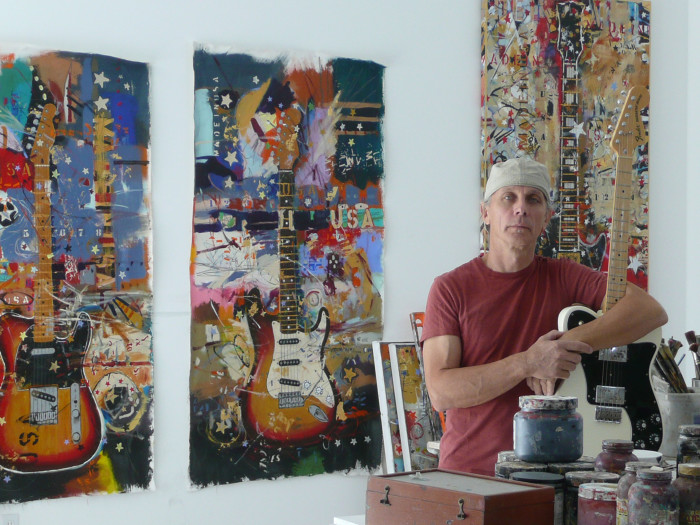 Artist Michael Babyak in Studio