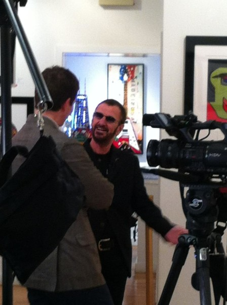 Ringo Starr at Pop International Galleries