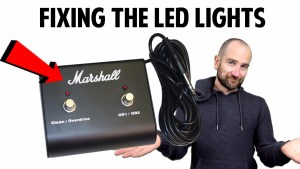 How to fix a Marshall Amplifier Footswitch LED Light
