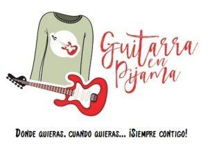 logo guitarra en pijama
