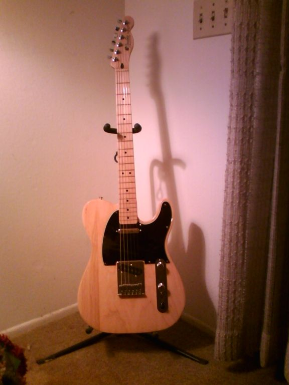 Telecaster with Black Pickguard and Reversed Controls