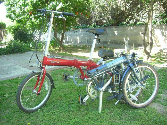 One bike folded