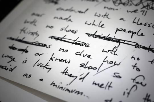 The Lyrics in Verses