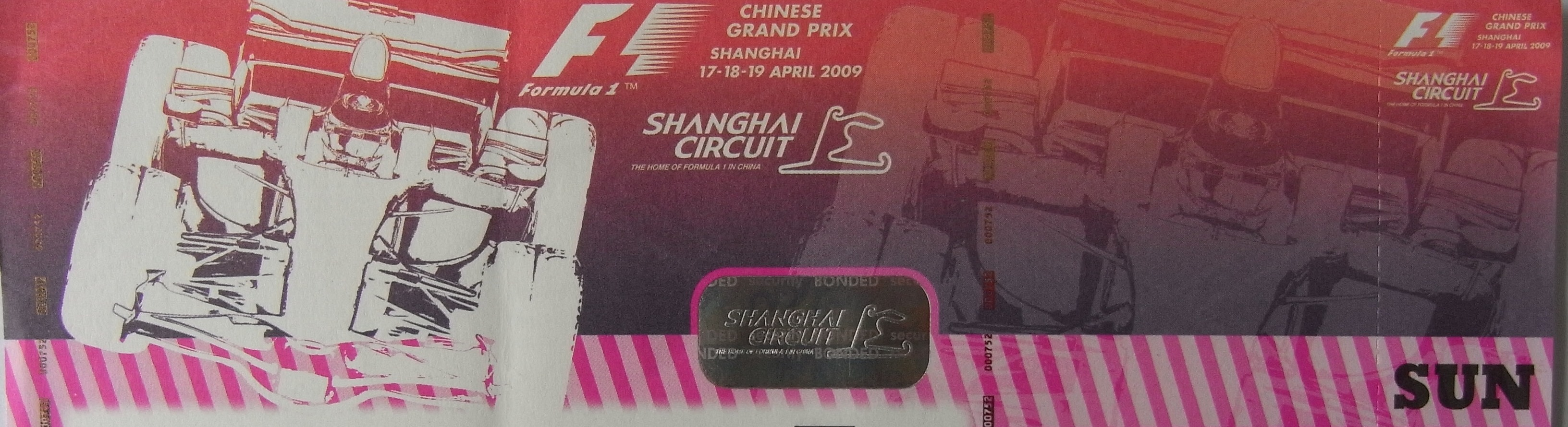 F1 Ticket Shanghai