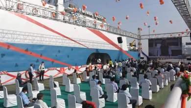 Union Minister Mansukhbhai Mandvia launches cruise service between Hazira and Diu in Surat