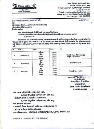 CRC BRC Review Babat Banaskantha Dist