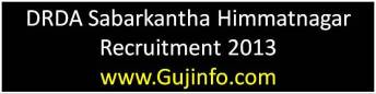 DRDA Sabarkantha Himmatnagar Recruitment 2013