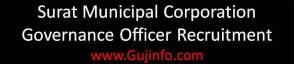 Surat Municipal Corporation Governance Officer Recruitment