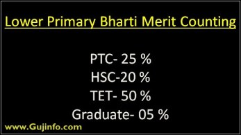lower primary bharti merit counting