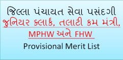 GPSSB Provisional Merit List